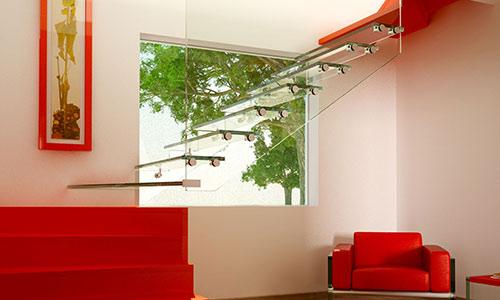 minimalistische Faltwerktreppen Beton House in Ontinyent