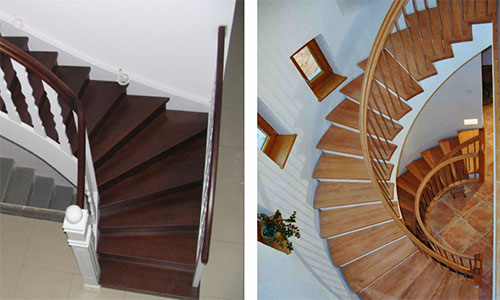 Gewendelte treppe handlauf: halbgewendelte innentreppe über ...