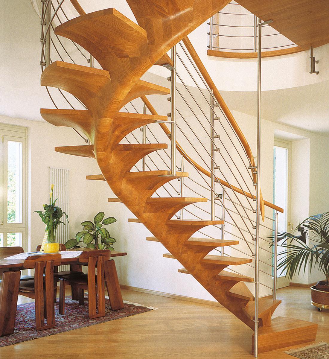 siller treppen plz 81545 m nchen holztreppe mit edelstahlgel nder und holzhandlauf finden. Black Bedroom Furniture Sets. Home Design Ideas