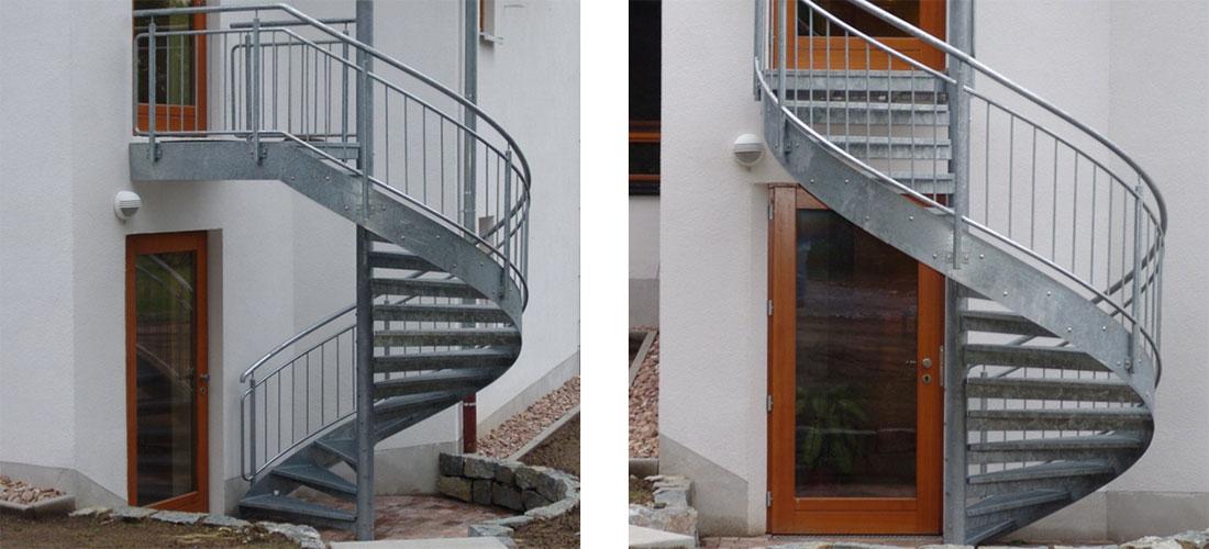tus metallbau plz 33104 paderborn aussentreppe spindeltreppe aus verzinktem stahl treppen. Black Bedroom Furniture Sets. Home Design Ideas