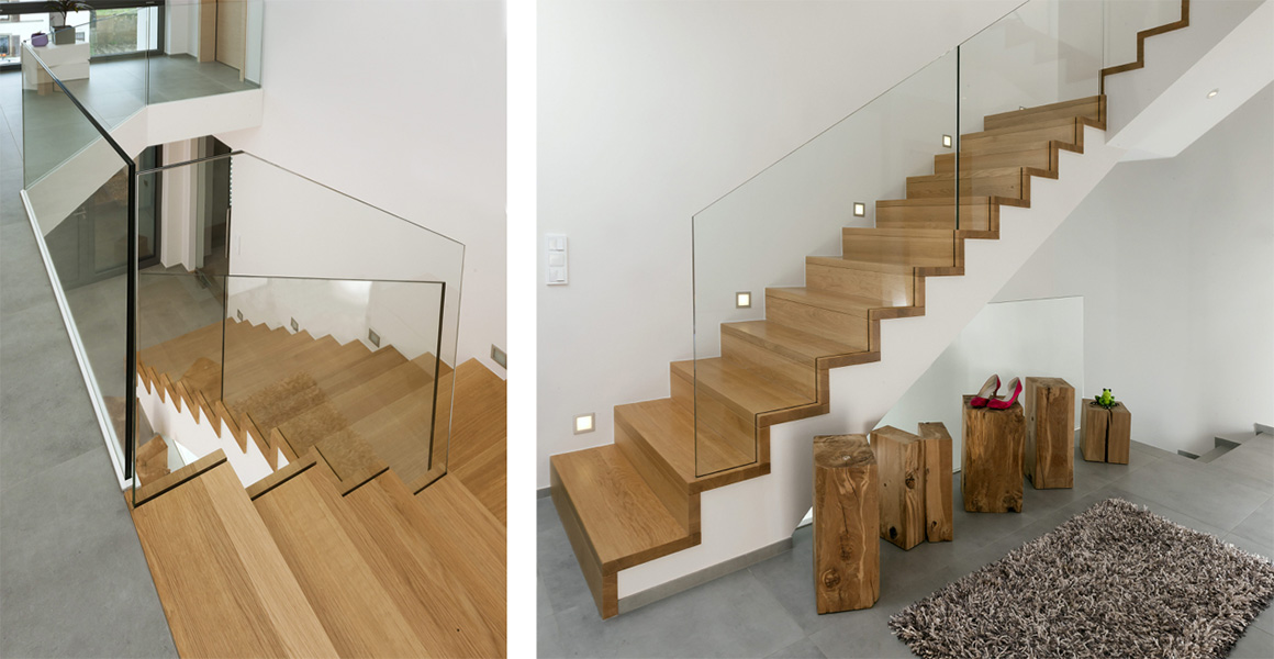 treppe mit glasgel nder treppe mit glasgel nder f r schickes interieur glasgel nder f r ihre. Black Bedroom Furniture Sets. Home Design Ideas