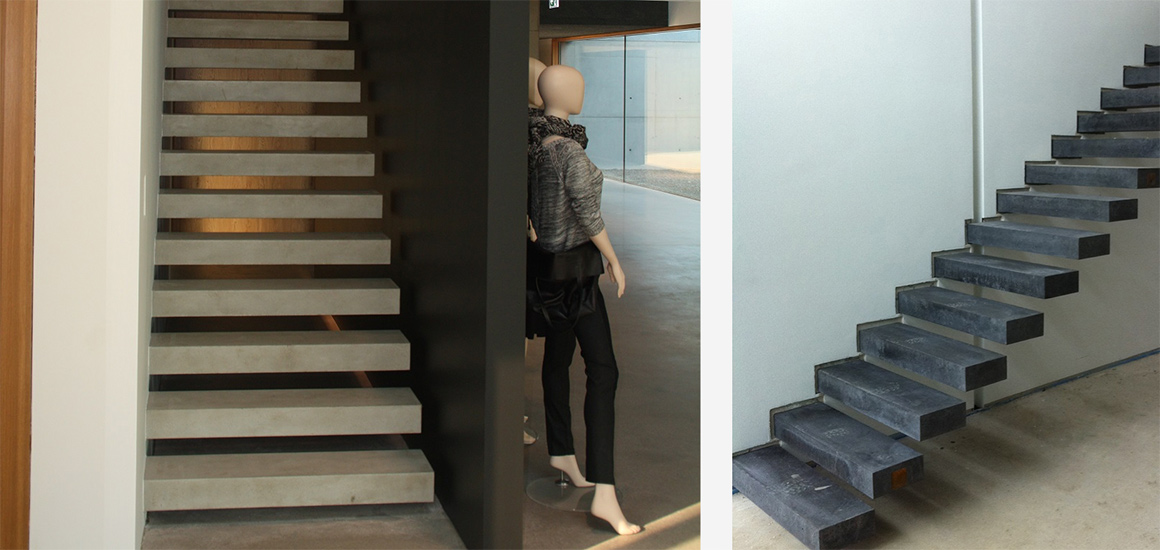 treppe aus beton wir freuen uns immer wieder wie gut auch mit unserem beton cire unique eine. Black Bedroom Furniture Sets. Home Design Ideas