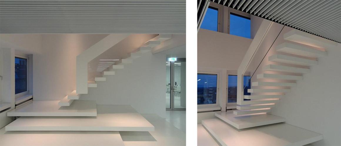 Treppen Dortmund treppenbau plz 44149 dortmund kragarmtreppe aus corian