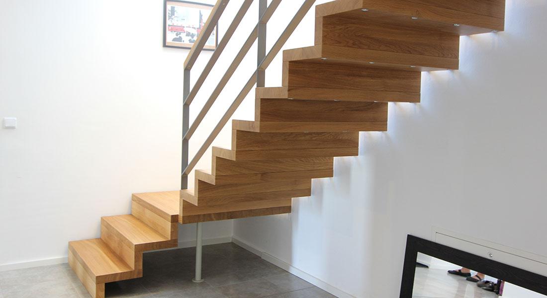 b the treppen plz 99974 m hlhausen faltwerktreppe aus massivholz mit edelstahlgel nder. Black Bedroom Furniture Sets. Home Design Ideas