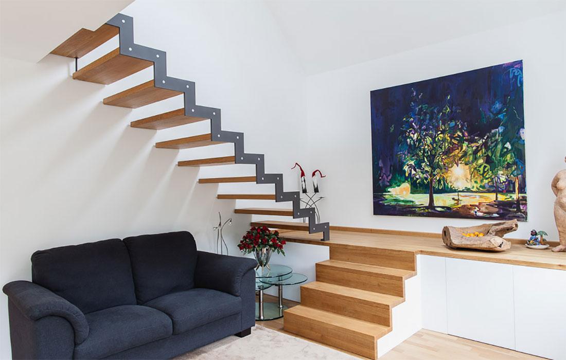 treppenbau schmidt plz 56462 h hn treppe aus holz und stahl mit podest treppen. Black Bedroom Furniture Sets. Home Design Ideas