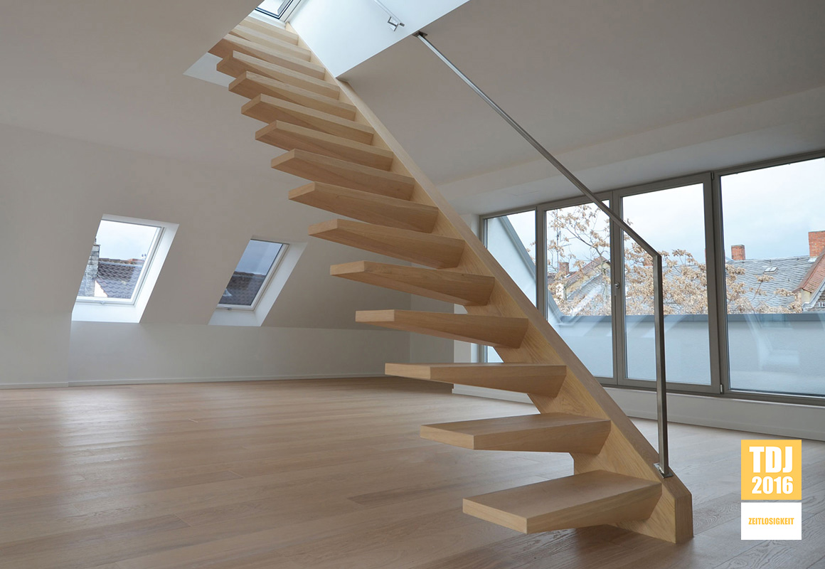 treppenbau diehl plz 60435 frankfurt freistehende kragarmtreppe mit edelstahlhandlauf. Black Bedroom Furniture Sets. Home Design Ideas